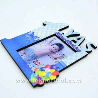 1 Yaş Mavi Magnet Çerçeve - Thumbnail