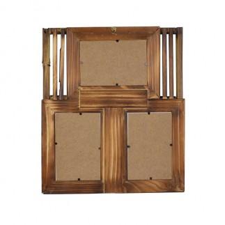 NobbyStar Hediye - 3'lü 10x15 Bambu Duvar Fotoğraf Çerçevesi (1)