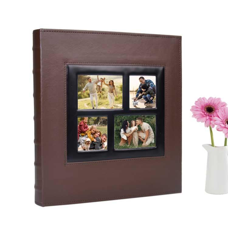 500'lük Pencereli 10x15 Deri Fotoğraf Albümü