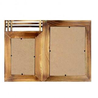 2'li 10x15 ve 15x21 Bambu Duvar Fotoğraf Çerçevesi - Thumbnail