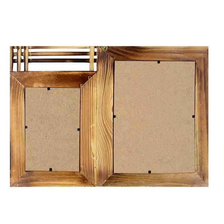 2'li 10x15 ve 15x21 Bambu Duvar Fotoğraf Çerçevesi