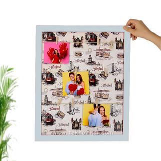 Ahşap İpli Fotoğraf Çerçevesi 35x45 cm - Thumbnail