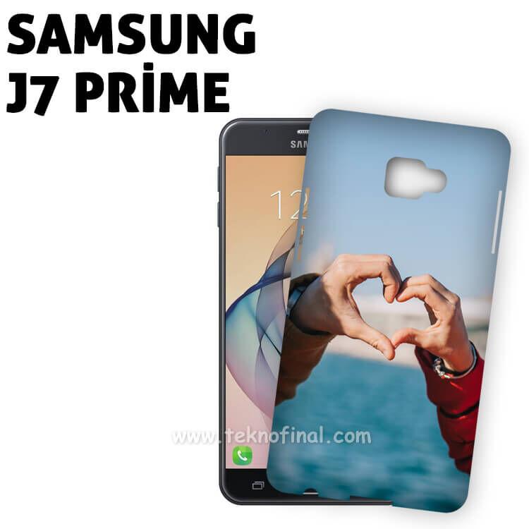 3D Samsung J7 Prime Parlak Kapak