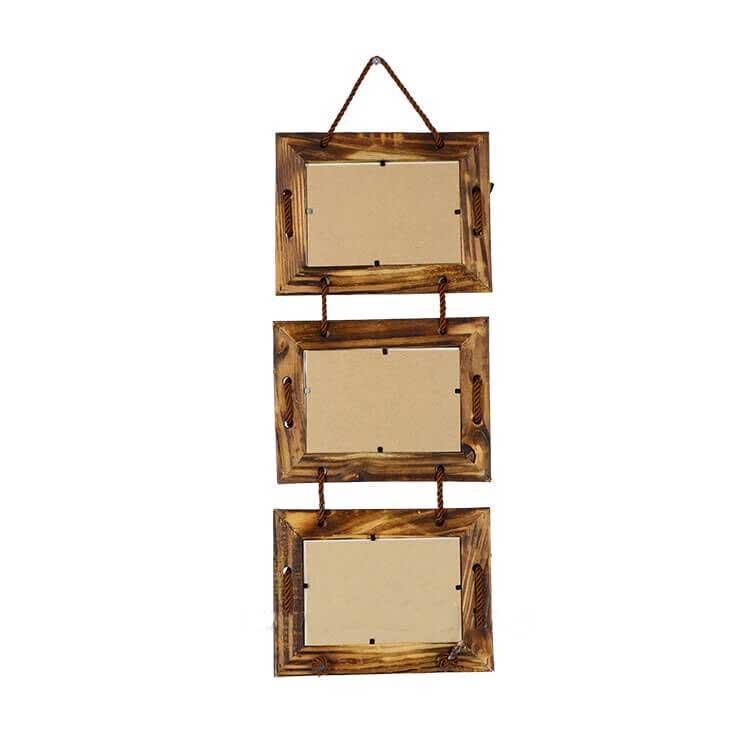 3'lü Bambu Çerçeve (10x15 cm)