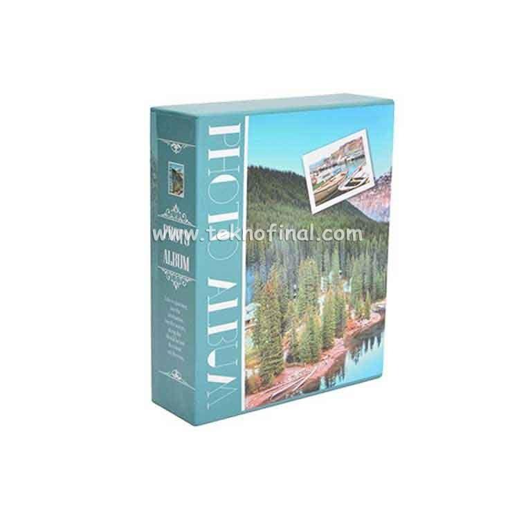 100'lük Kutulu Doğa Desenli Fotoğraf Albümü 46100