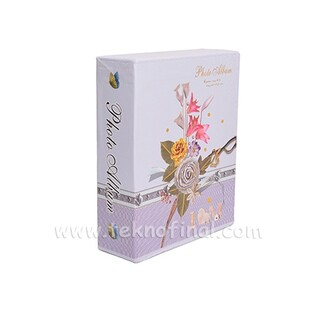 100'lük Kutulu Çiçek Desenli Fotoğraf Albümü 46100 - Thumbnail