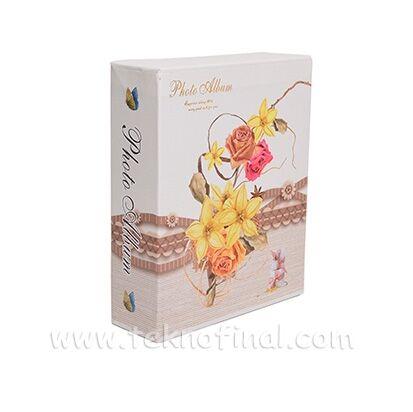 100'lük Kutulu Çiçek Desenli Fotoğraf Albümü 46100