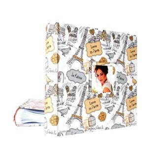 46200 Deri 200'lük 10x15cm. Pencereli Memory Fotoğraf Albümü - Thumbnail