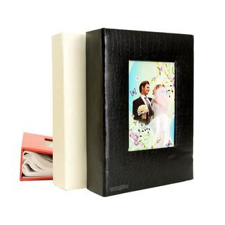 46200 Deri 200'lük 10x15cm. Pencereli Fotoğraf Albümü - Thumbnail