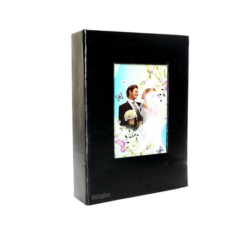 46200 Deri 200'lük 10x15cm. Pencereli Fotoğraf Albümü