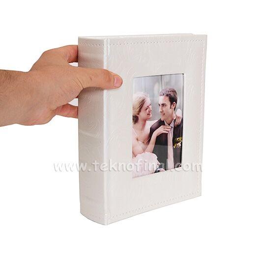 200'lük Pencereli Gül Desen Deri Fotoğraf Albümü 46200