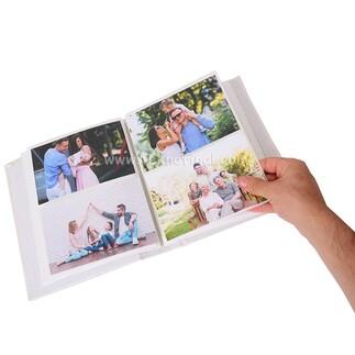 200'lük Pencereli Gül Desen Deri Fotoğraf Albümü 46200 - Thumbnail