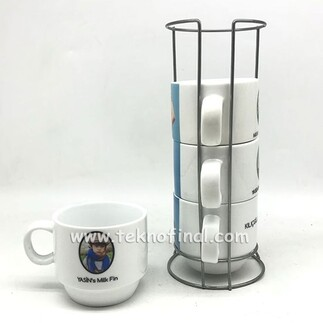 - Sublimasyon 4'lü Kahve Fincanı Seti (1)