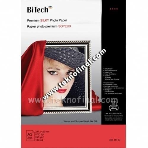Bitech A3 Inkjet Silk Fotoğraf Kağıdı
