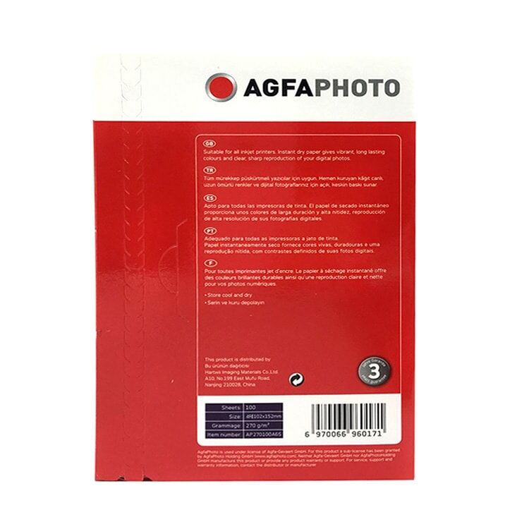Agfa inkJet 20x30 Fotoğraf Kağıdı - A4