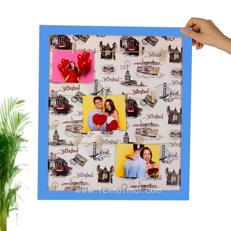 Ahşap İpli Fotoğraf Çerçevesi 45x52 cm