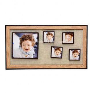 5'li Ahşap Kendinyap Fotoğraflı Magnet Çerçeve 18x33 Cm - Thumbnail