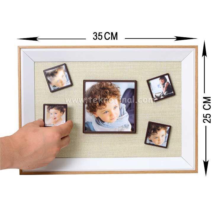 5'li Ahşap Kendinyap Fotoğraflı Magnet Çerçeve 25x35