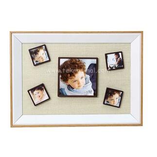5'li Ahşap Kendinyap Fotoğraflı Magnet Çerçeve 25x35 - Thumbnail