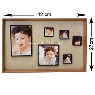 6'lı Ahşap Kendinyap Fotoğraflı Magnet Çerçeve 27x42 Cm - Thumbnail