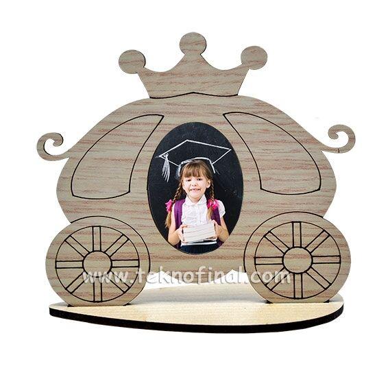 Ahşap Standlı Kral-Kraliçe Arabası Çerçeve