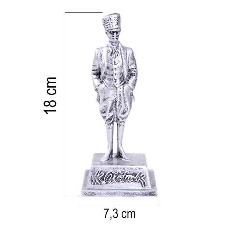 Atatürk Silver - Gümüş Heykel Biblo
