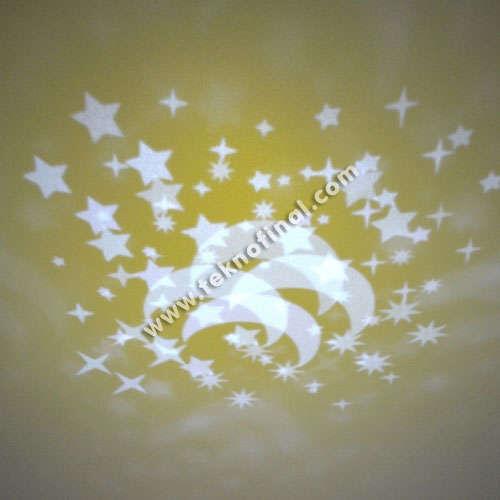 Ay Yıldız Led Işıklı Dönen Küp Çerçeve
