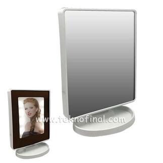 - Ayaklı Büyük Kare Led Sihirli Ayna Çerçeve