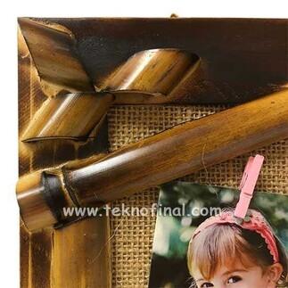 Bambu Hasır İpli Ev Fotoğraf Çerçevesi 20x30 - Thumbnail