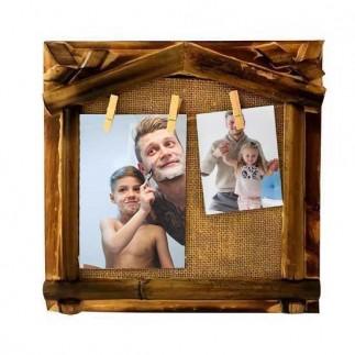 Bambu Hasır İpli Duvar Fotoğraf Çerçevesi - Thumbnail