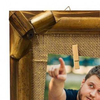 NobbyStar Hediye - Bambu İpli Ahşap Duvar Fotoğraf Çerçevesi (1)
