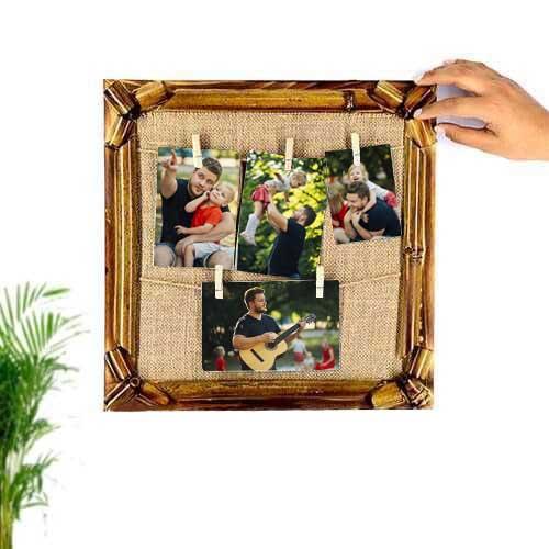 Bambu İpli Ahşap Duvar Fotoğraf Çerçevesi