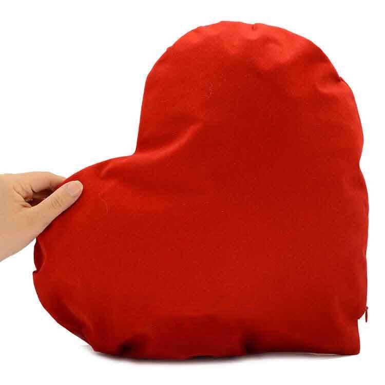 Sublimasyon Dikey Kırmızı Kalp Yastık