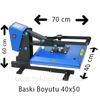 Best Transfer Makine - Düz Transfer Sublimasyon Baskı Makinesi 40x50 Pres (1)