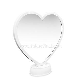 NobbyStar - 3d Beyaz Led Işıklı Aynalı Kalp Fotoğraf Çerçevesi (1)