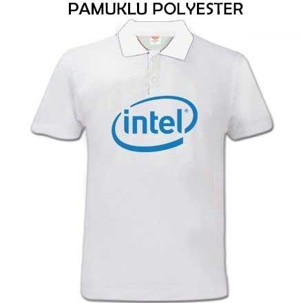 Sublimasyon Beyaz Polo Yaka Pamuk-Polyester Tişört