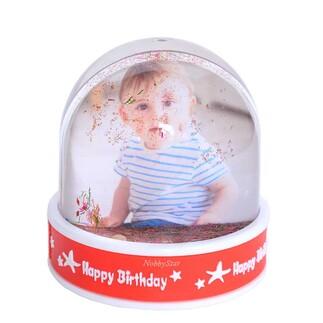 NobbyStar Hediye - Müzikli Led Işıklı Fotoğraflı Happy Birthday Hediye Kar Küresi (1)
