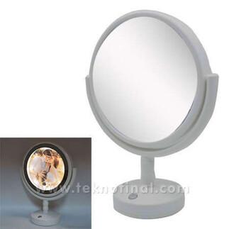 - Çift Aynalı Yuvarlak Led Sihirli Ayna Çerçeve