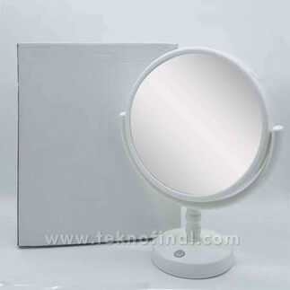 Çift Aynalı Yuvarlak Led Sihirli Ayna Çerçeve - Thumbnail
