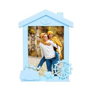 Dikey Ev Görünümlü Renkli Fotoğraf Çerçevesi - Thumbnail