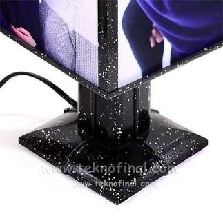 NobbyStar Hediye - Dönen Abajur Siyah Simli Gece Lambası (1)