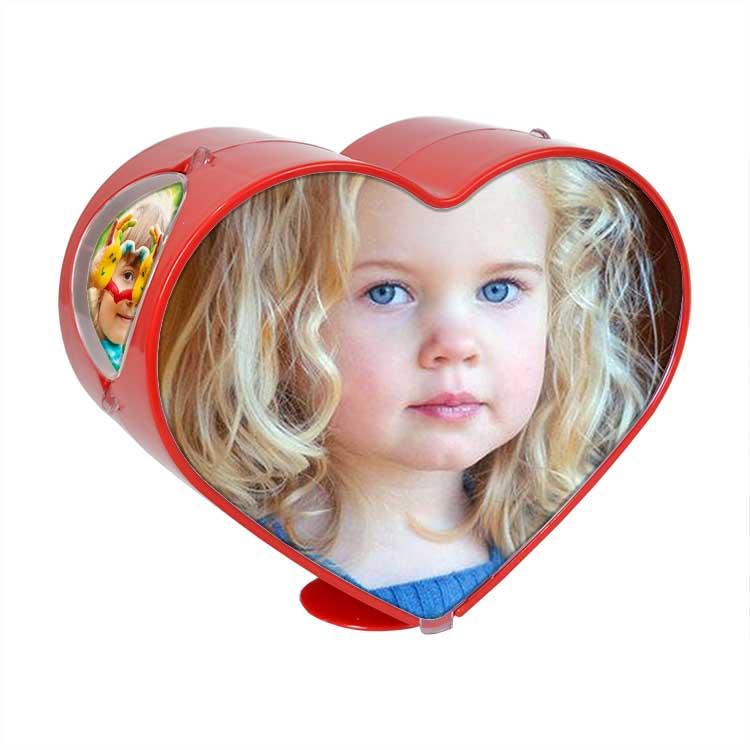 Dönen Battal Boy Kırmızı Kalp Fotoğraf Çerçevesi