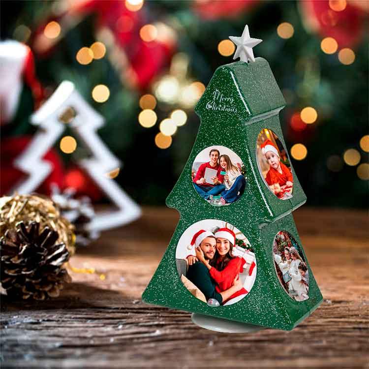 Dönen Yeni Yıl Ağaç Çerçeve