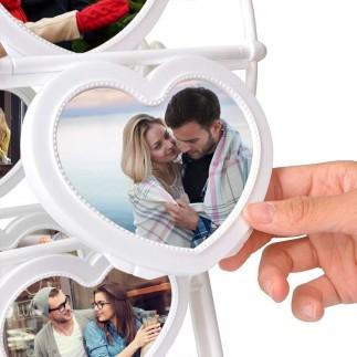 NobbyStar Hediye - Kalp Dönme Dolap Fotoğraf Çerçevesi (1)