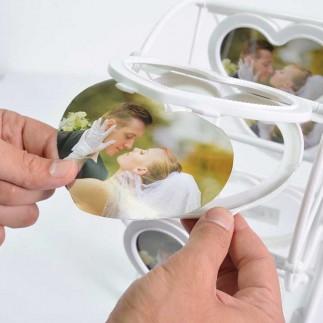 Kalp Dönme Dolap Fotoğraf Çerçevesi - Thumbnail