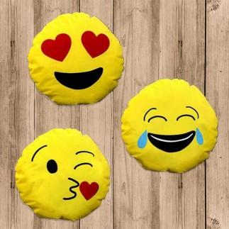 Best Hediye - Yuvarlak Emojili Sarı Yastıklar (1)