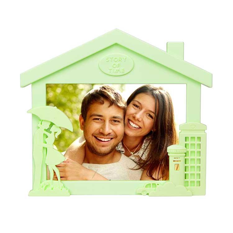 Yatay Ev Görünümlü Renkli Fotoğraf Çerçevesi
