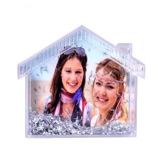 Fotoğraflı Ev Kar Küresi Çerçeve - Thumbnail