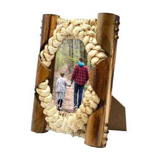 Hasır Örgü Bambu Fotoğraf Çerçevesi -10x15