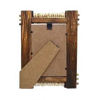 Hasır Örgü Bambu Fotoğraf Çerçevesi -10x15 - Thumbnail
